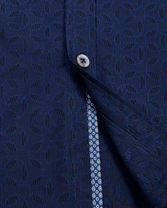 Jacquard print shirt - Navy | Shirts | Ted Baker UK