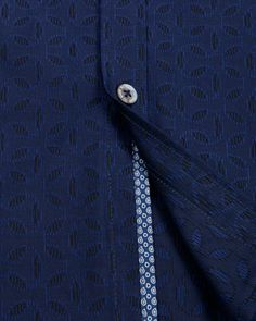 Jacquard print shirt - Navy | Shirts | Ted Baker UK