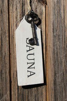 Key to the Sauna Room Portable Steam Sauna, Traditional Saunas, Finnish Sauna, Swiss Chalet, Sauna Room, Birches, The Perfect Getaway, Home Spa, Painted Doors