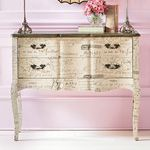 I LOVE CREAM CHALK PAINTED OR PAINTED VINTAGE FURNITURE W/BLACK MANUSCRIPT,FRENCH/ PARISIAN EMBLEMS OR MUSIC NOTES,I THINK ITS CHIC,SOPHISTICATED,ELEGANT & CLASSIC.BEAUTIFUL  4 A DIY PROJECT. THIS VINTAGE BUFFET/SERVER,CHEST IS A MUST 4 FRENCH COUNTRY,SHABBY FRENCH,SOPHISTICATED, ANTIQUE,OLDWORLD, FORMAL-CASUAL SHABBY CHIC & BLACK & WHITE COLOR SHEMED DECOR OF ANY STYLE.CHERIE