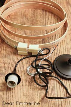 27 Best Ideas For Embroidery Hoop Light Diy Pendants Diy Luminaire, Diy Lampe, Luminaire Design, Orb Light, Diy Pendant Light, Pendant Lighting, Jar Chandelier, Diy Easy Embroidery, Embroidery Hoop Crafts