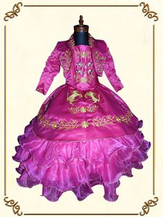 Little Girl Dresses, Little Girls, Girls Dresses, Kids Party Wear Dresses, Charro, Quinceanera, Victorian, How To Wear, Mexican