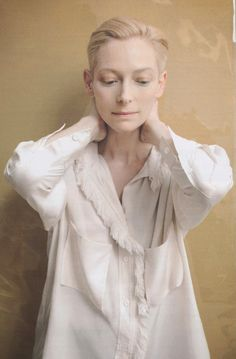 """Tilda Swinton, a unique individual - she is definitely not a follower, this one blazes her own trails & leaves a fascinating path. She plays anyone/anything - most people have no idea who she is - she is AWESOME! I have her new movie, """"Only Lovers Left Alive"""" - this is not for everyone but it is for me - I'm right at home with the ambience of the movie - I want to feel life this way, deeply, emotional & in awe, savoring each moment the way she does and yet totally above & beyond it all..."""