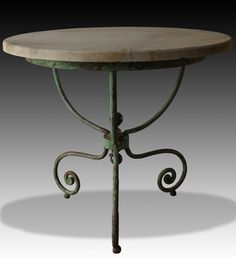 Charming antique iron table ideal for the garden or inside the home, from AD&PS on the Decorative Collective