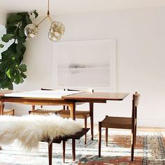 Modern, earthy dining room by Anna Smith of Annabode + Co.
