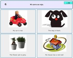 Large amount of free spanish resources- flashcards for kids, games and huge Spanish sentence database.