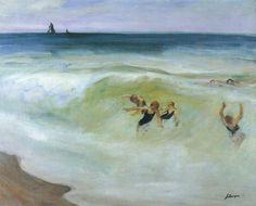 Bathers in the Sea - Henri LebasqueFrench 1865-1937