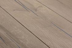 Magic OAK black hand-planed, grey oil I natural wood floors I mafi.com Natural Wood Flooring, Hardwood Floors, Wood Stamp, Wide Plank, Real Wood, Coral, Hands, Magic, Grey