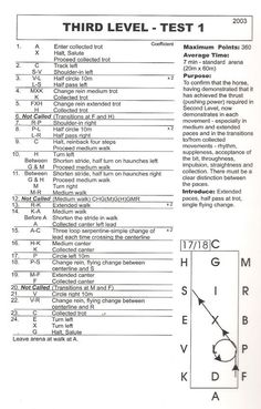 Beginner dressage test from google. I whited things out so