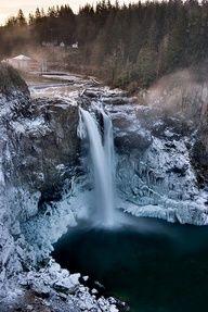 Snoqualmie Falls, Washington State - Deep Freeze, by Thorsten Scheuermann, via Flickr