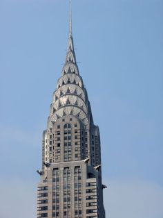 The Chrysler Building, NY - one of the Art Deco period's finest