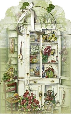 Cabinet With Flowers