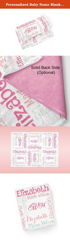 Personalized Baby Name Blanket 03 - Pink Coral Mint Baby Swaddling Blanket Photo Prop. 1 Personalized Baby Blanket - makes a great Baby Gift ~ I Design and Customize, You Give the Perfect Gift!~ My Personalized Baby is perfect for a new mom or mom to be! Wrap your precious baby, with a warm embrace, in this soft and cuddly blanket. Savor those close moments with your sleeping baby, as they relax in the warm comfort of the blanket in your arms. Give a child you love, the gift of a...