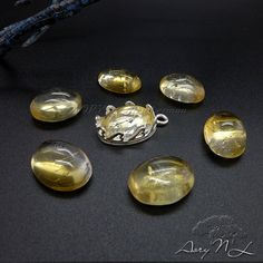 1pcs 14x10mm Natural Citrine Oval Shape Cabochon Natural by AoryNL
