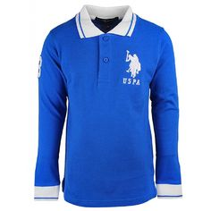 US Polo Blue Long Sleeve Shirt