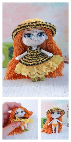 Amigurumi Pink Little Layd Free Pattern – Amigurumi Free Patterns And Tutorials Crochet Crafts, Crochet Dolls, Free Crochet, Amigurumi Patterns, Amigurumi Doll, 4 Ply Yarn, Mohair Yarn, Hello Dear