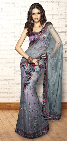 Perfect Sari for pre-wedding photos/dinner  http://just4evesboutique.in/online-sarees/online-designer-sarees