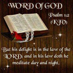 Psalms 1:2 KJV