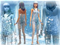 FROZEN SET : outfit and glass shoes at Simalicious via Sims 4 Updates