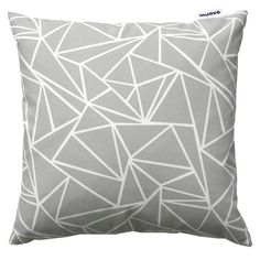 Large, pebble-coloured triangle cushion cover. Printed on 100% Organic Cotton. Designed and made in Helsinki by Muovo. Muovo are young Finnish textile design duo, Sanna Väänänen and Anni Kääriä.