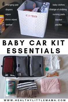 BABY CAR KIT – Healthy Little Mama BABY CAR KIT – Healthy Little Mama,Mamas Organisation Since becoming a mom, I learned that I need to be well prepared and stocked for any and everything. Mama Baby, Bebe Video, Clorox Wipes, Baby Changing Pad, Diy Bebe, Nursing Pads, Baby Kicking, After Baby, Baby Arrival