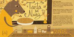 Cositas Ricas Ilustradas por Pati Aguilera: Tarta de Nuez Pasta Recipes, Dessert Recipes, Desserts, Chilean Recipes, Chilean Food, Vintage Drawing, Sweet Cakes, Food Illustrations, Party Drinks