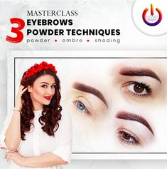 #masterclass #eyebrows #pmu #powdertechniques #ombretechnique #shadingtechnique #anamariamagineanu #pmumastertrainer Permanent Makeup, Master Class, Banners, Eyebrows, Advertising, Movie Posters, Eye Brows, Brows, Banner