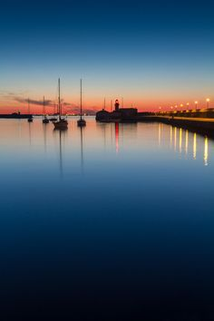 Dun Laoghaire Harbour, Dusk by Karl Jordan on (this is really pretty at sunrise if you were willing to get up at Dublin Ireland, Ireland Travel, Cool Pictures, Cool Photos, Amazing Photos, Walking In Sunshine, America And Canada, Dublin City, Being In The World