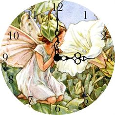 @rosenberryrooms is offering $20 OFF your purchase! Share the news and save!  Morning Glory Fairy Vintage Wall Clock #rosenberryrooms