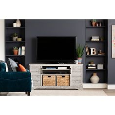 Seaside Pine TV Stand - Fitcher | RC Willey Furniture Store