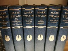 Lot of 6 Mark Twain Leatherbound Novels -- Authorized Eds. Collier 1917-1922