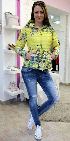 Yellow flowery coat Sweater Jacket, Coats, Yellow, Blouse, Long Sleeve, Sleeves, Sweaters, Jackets, Women