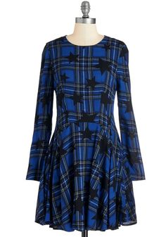 Scholastic Superstar Dress. Dreaming of a look with smart style and fashionable flair? #blue #modcloth