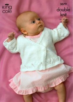 King Cole baby and childrens DK crossover front cardigan 3079