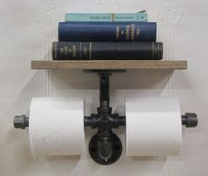 about Industrial Urban Rustic Iron Pipe Toilet Paper Holder Roller With Wood Shelf Farmhouse Chic Iron Pipe Toilet Paper Holder with Wood Oak ShelfFarmhouse Chic Iron Pipe Toilet Paper Holder with Wood Oak Shelf Industrial Furniture, Rustic Furniture, Industrial Style, Industrial Shelves, Furniture Plans, System Furniture, Galvanized Pipe Furniture, Plumbing Pipe Shelves, Rustic Shelving