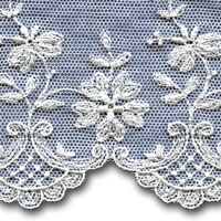 Lace, Edgings, Embroidered Tulle, 1722-7