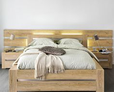 Projet chambre on pinterest malm ikea and wooden bed frames - Ikea tete de lit bois ...
