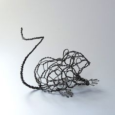 Squiggy the Mouse Wire Sculpture | 22 ga. galvanized steel w… | Flickr
