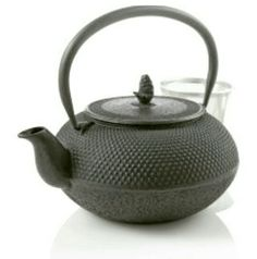 """Known as """"Tetsubin"""" in Japan, cast iron teapots were originally crafted in the mid-17th century for the full leaf teas just coming into popularity. Brought to you by @Teavana"""