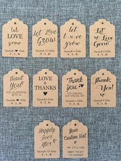 20 Hanging CUSTOM Favor Tags bulk wholesale succulent prices at the succulent source - 11 Wedding Favor Sayings, Creative Wedding Favors, Inexpensive Wedding Favors, Elegant Wedding Favors, Edible Wedding Favors, Wedding Favors For Guests, Personalized Wedding Favors, Wedding Favor Tags, Unique Wedding Favors