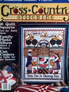 Cross Country Stitching Magazine August 1992 by NeedANeedle