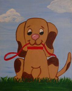 Dog Painting - All paintings are taught at Painting and Pinot - Baton Rouge