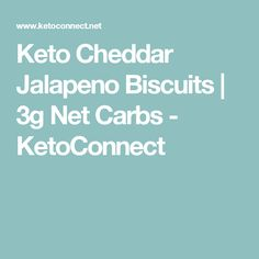 Keto Cheddar Jalapeno Biscuits | 3g Net Carbs - KetoConnect