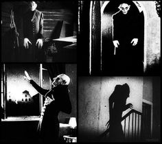 "Nosferatu, is a German Expressionist horror film, directed by F. W. Murnau, starring Max Schreck as the vampire Count Orlok. The film, shot in 1921 and released in 1922, was an unauthorized adaptation of Bram Stoker's Dracula, with names and other details changed because the studio could not obtain the rights to the novel (for instance, ""vampire"" became ""Nosferatu"" and ""Count Dracula"" became ""Count Orlok""). Bram Stoker's Dracula, Count Dracula, Classic Horror Movies, Horror Film, Nosferatu 1922, Vampire Counts, Bride Of Frankenstein, Classic Monsters, Friedrich"