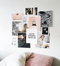 exoticallyannie // mood board wall After the success of last month's style guide, I thought I would share what I've got going on inspiration boards wise this month too. If you get sick of these, let me know. Deco Rose, Dorm Walls, Cute Room Decor, Room Goals, Aesthetic Room Decor, Inspiration Wall, Picture Wall, My Room, Decoration