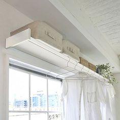 Japanese Interior, Laundry In Bathroom, Home Studio, Studio Apartment, Inspired Homes, Home Organization, Organizing, Getting Organized, Valance Curtains
