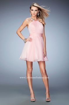 4c165d183b5f Look chic   flirty in this short La Femme Style 21885 available at  WhatchamaCallit Boutique