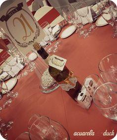 Meseros en Botella de vino decorada #boda #ideas #mesero #decoracion