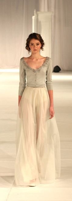 Paolo Sebastian - Fashion Palette Sydney Australia. I love the pairing of the formal skirt with a cardigan