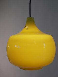 Vintage Yellow Pendant by Paolo Venini for Venini 1